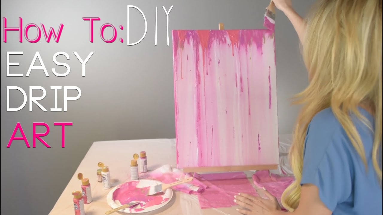 How to acrylic drip painting diy youtube for Diy paint