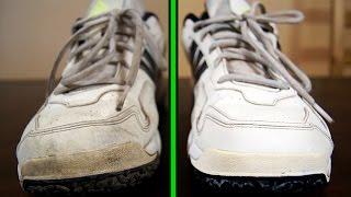 как почистить белые кроссовки?  Лайфхак