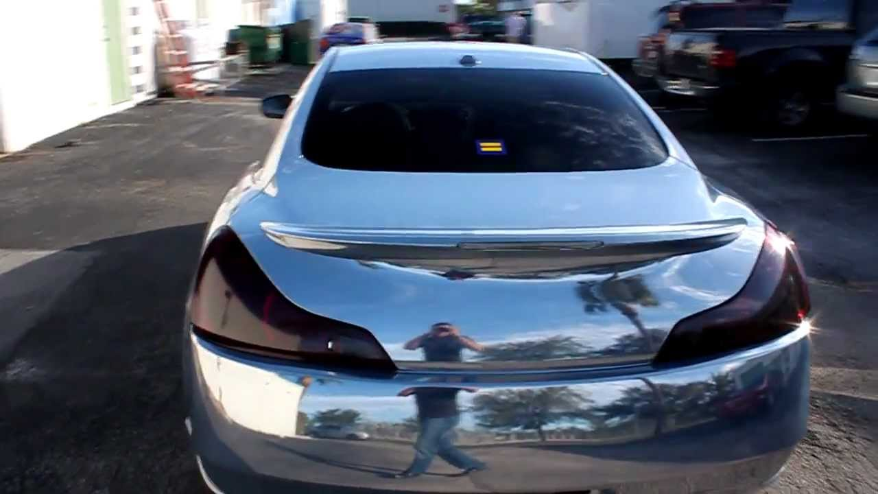 Chrome Wrap Infiniti G37 By Expose Yourself Youtube