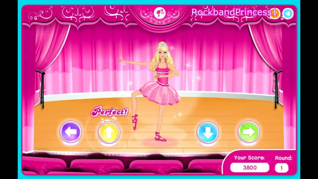 Playing Dancing Barbie Games Youtube