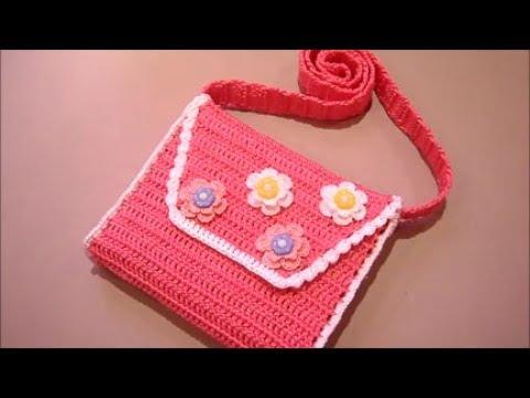 e7d25414f947 Детская сумочка крючком.Часть №2 - YouTube