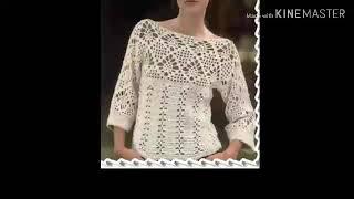 Урок 183. Очень красивая кофточка крючком. Простое вязание для начинающих.