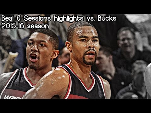 Bradley Beal & Ramon Sessions 26 pts & 8 ast combined vs. Bucks (NBA RS 2015/2016) - 13.01.2015