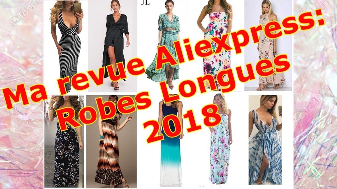 471b0cdfc1174 Ma revue ALIEXPRESS: ROBE LONGUE 2018 (soirée, cocktail, plage, été...)