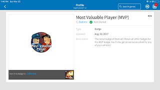 Get the hardest badge in ROBLOX jailbreak (MVP) badge