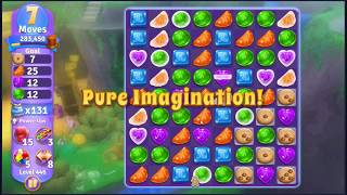 Wonka's World of Candy Level 446 - NO BOOSTERS + FULL STORY ???? | SKILLGAMING ✔️