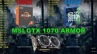 Ryzen 7 1800X vs Intel Core i5 6600K 8 Games Tested GTX 1070 O…