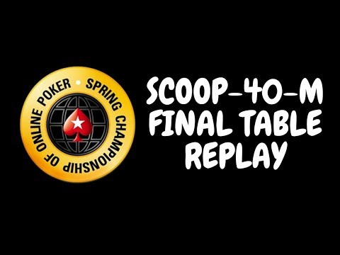 SCOOP 2018 | $530 NLHE Event 40-M: Final Table Replay