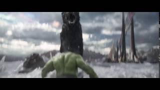 Hulk VS Fenrir Giant Wolf Dog Scene THOR 3 RAGNAROK Official Comic Con Trailer #2 Breakdown 2017