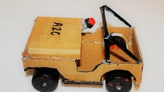 how to make a jeep using dc motor