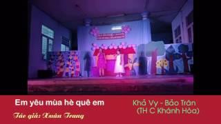 Em yêu mùa hè quê em -  Khả Vy - Bảo Trân - TH C Khánh Hòa - An Giang