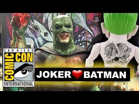 Comic Con 2016 Joker Batman Imposter, Joker Dragon Back Tattoo