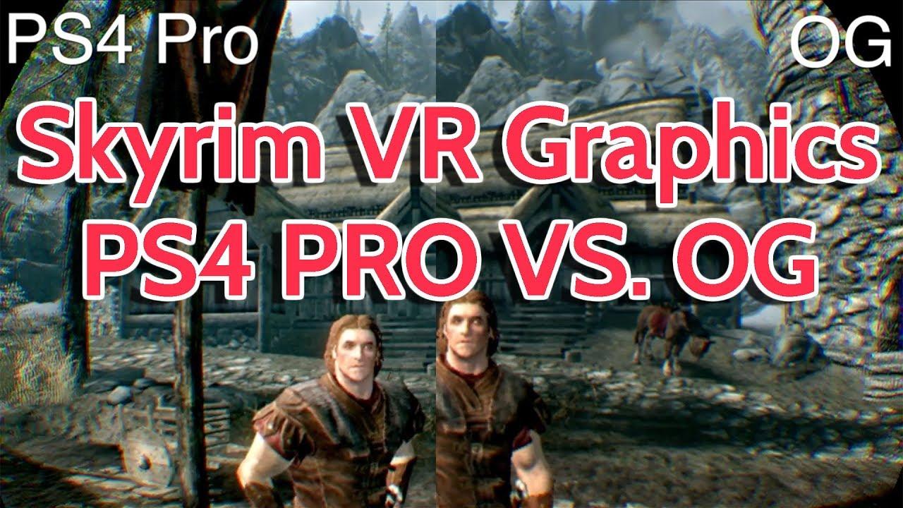 Skyrim Vr Graphics Comparison Ps4 Pro Vs Og Youtube Psvr Farpoint Playstation 4 Reg All Frank