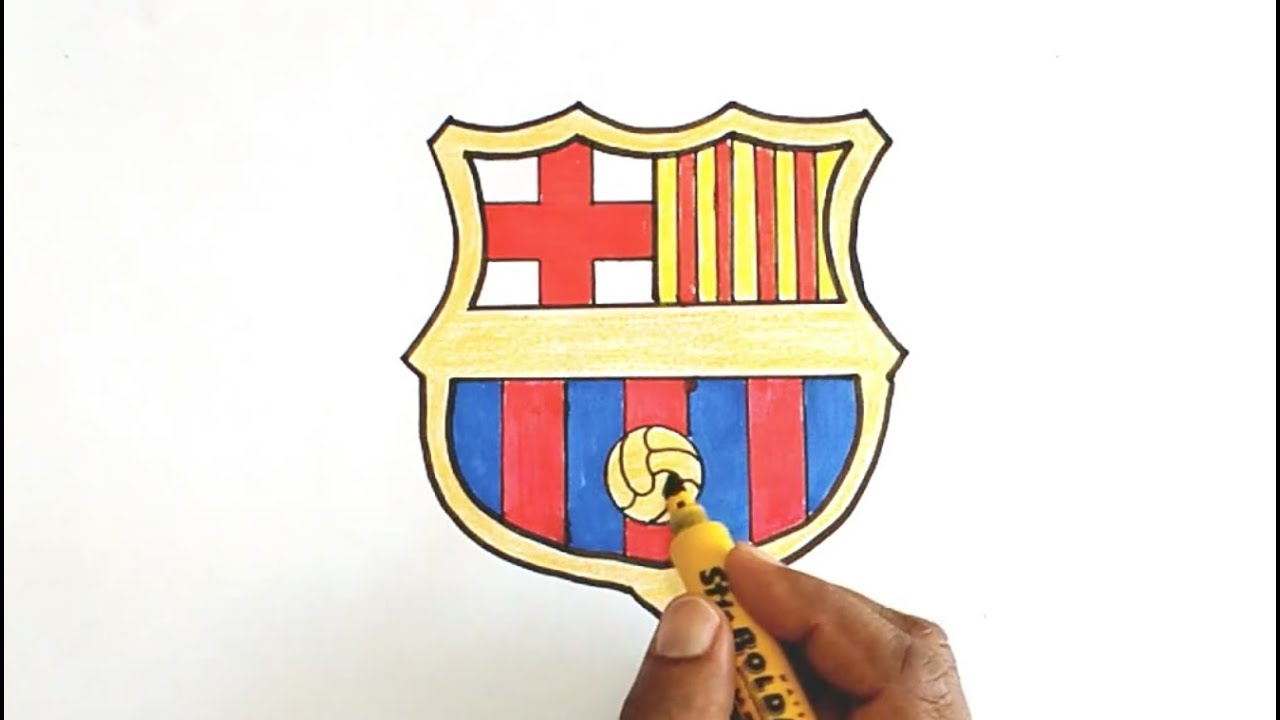 how to draw the fc barcelona logo youtube how to draw the fc barcelona logo