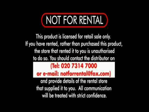 """Not For Rental"" Warning - 20th Century Fox (Inc ..."