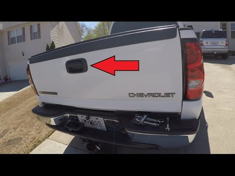 Master Tailgaters Replacement for Chevrolet Silverado//GMC Sierra 1999-2006 Black Tailgate Handle with Backup Camera