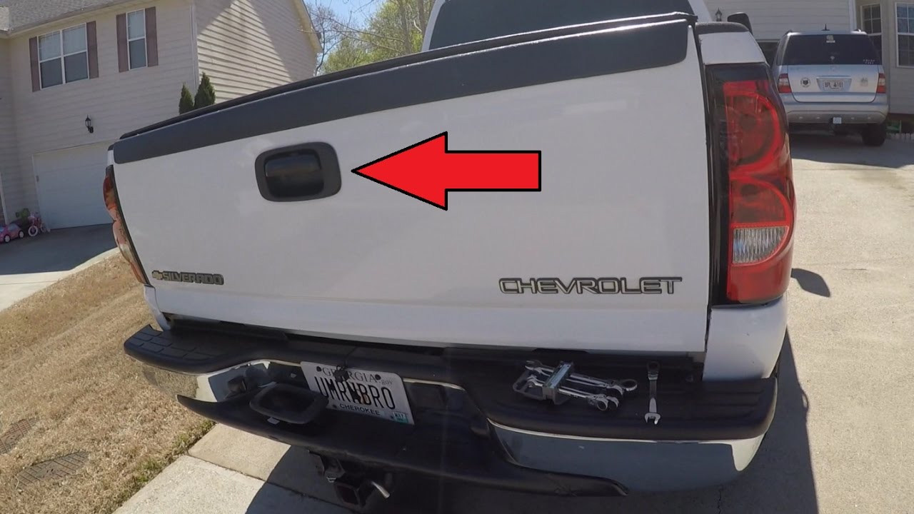 chevrolet silverado gmc tailgate handle and trim install youtube