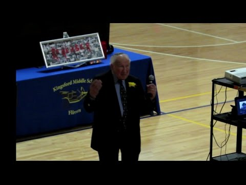Holocaust Survivor Martin Lowenberg - Kingsford Middle School 2016