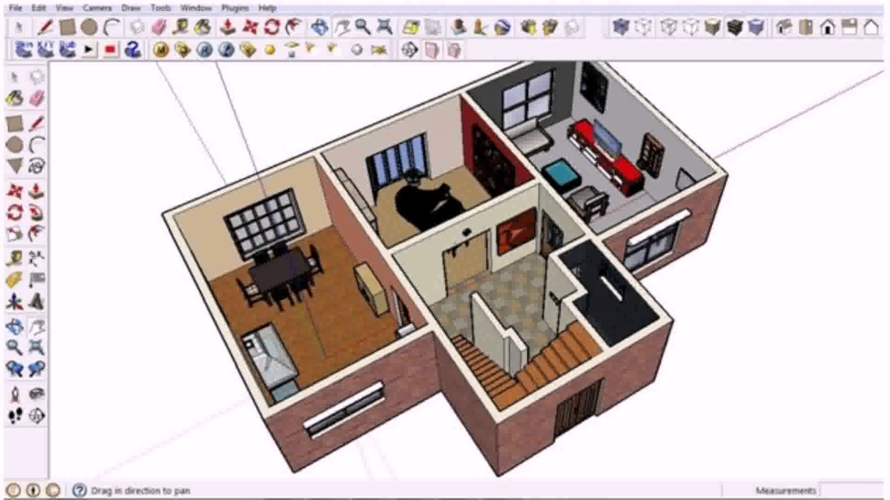 Floor plan generator sketchup see description youtube for Google house design