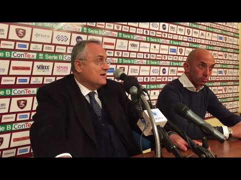 Salernitana - Ascoli 0-0, intervista post gara a Lotito