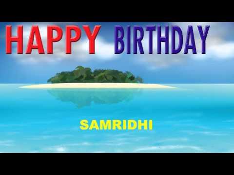 Samridhi  Card Tarjeta - Happy Birthday