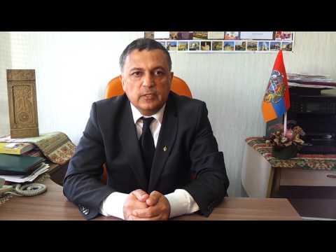 Председатель Армянской Диаспоры г.Владимира в день памяти жертв геноцида