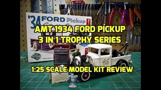 AMT 1934 Ford Pickup 1/25 Scale Model Kit Build Review AMT1120