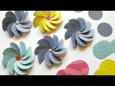 Easy Paper Pinwheel Flower Embellishments | DIY CRAFTS