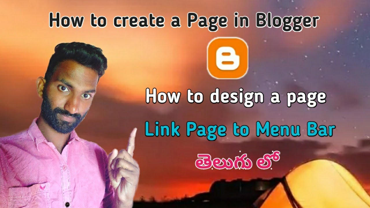 How to create a page in Blogger