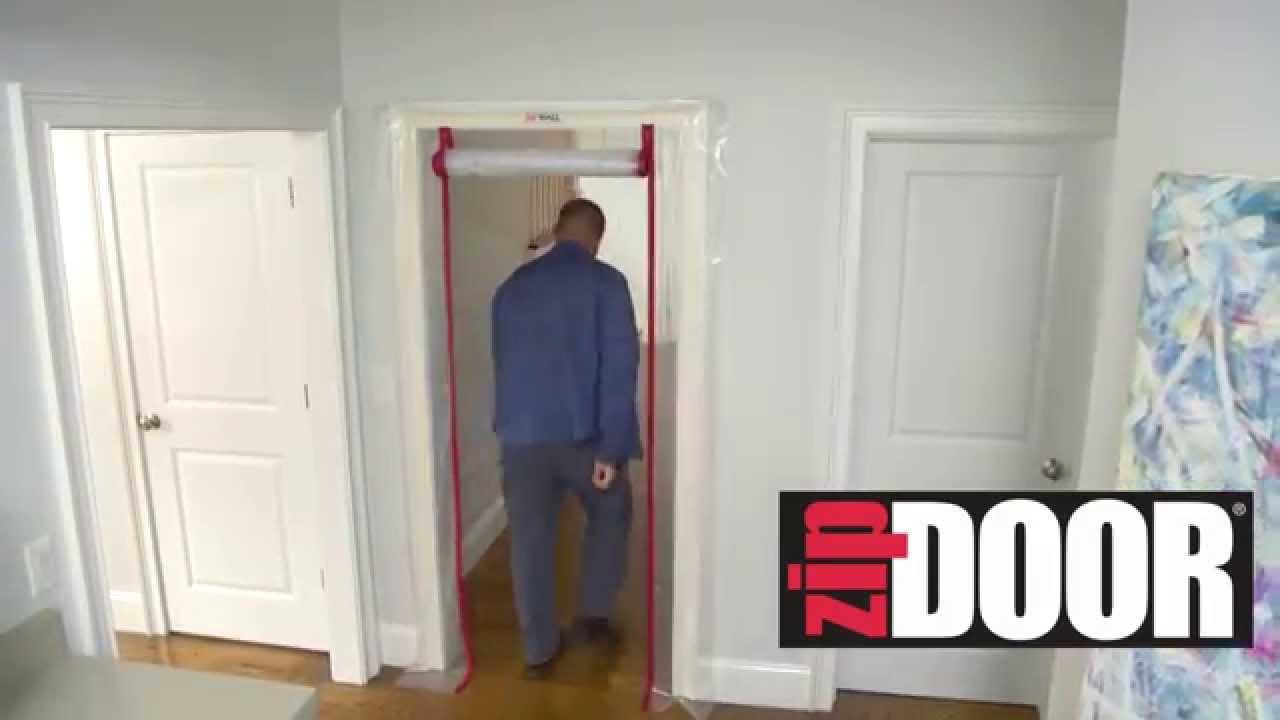 ZipWall Dust Barrier ZipDoor Kits   How To Cover Doors During Remodeling Or  Construction