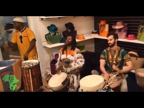 Africa Love Store Grand Opening Celebration with African Drummers Papa Diarra Zumana and Atito Gohi