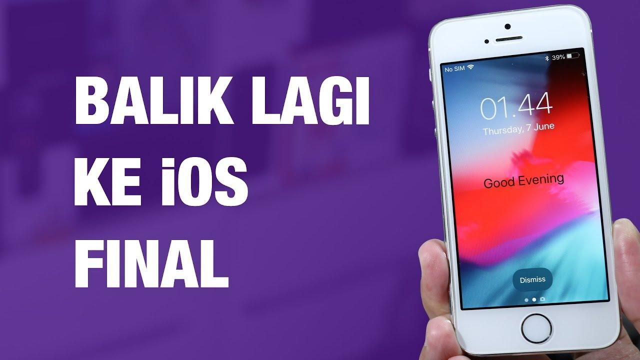 Cara Downgrade iOS 1 Beta ke iOS 1 Final di iPhone