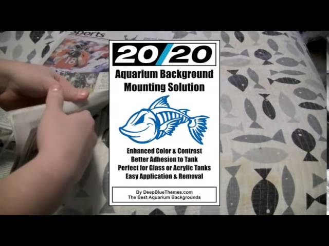 Mermaid Dark by DeepBlueThemes.com Aquarium Background FREE Mounting Solution