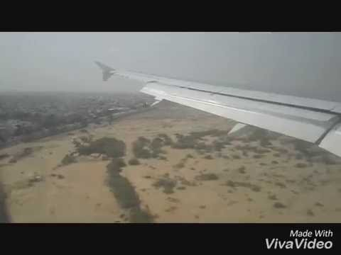 Sialkot To Karachi PIA Flight. Cabin View Takeoff And Landing