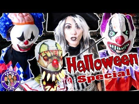 Download Youtube: KILLERCLOWNS ZOMBIES UNTOTE - HALLOWEEN SPEZIAL Kostümparty | Family Fun