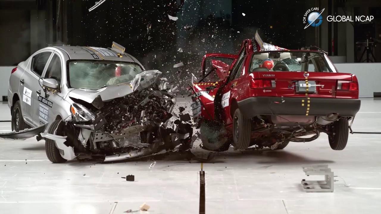 Latin NCAP Global NCAP Prueba de choque auto a auto - YouTube