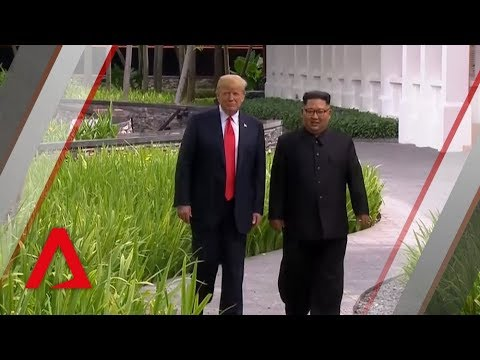 Trump-Kim summit: Donald Trump, Kim Jong Un take stroll around Sentosa's Capella Hotel