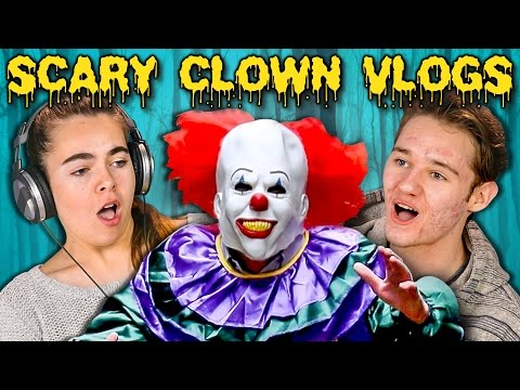 Thumbnail: TEENS REACT TO SCARY KILLER CLOWN DAILY VLOGS