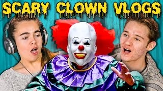 Repeat youtube video TEENS REACT TO SCARY KILLER CLOWN DAILY VLOGS
