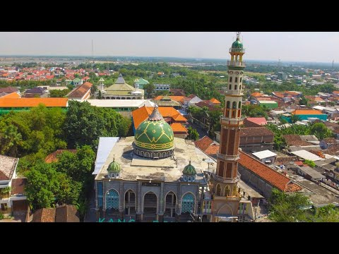 Adzan jawa. Drone video Masjid Roudlotus salam Suci adzan masjid demak