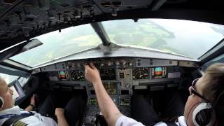 Airbus 320 cockpit Approach and landing Sheremetyevo/UUEE
