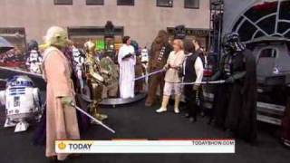 The hosts of The Today Show dressed up for Halloween as the cast of Star Wars