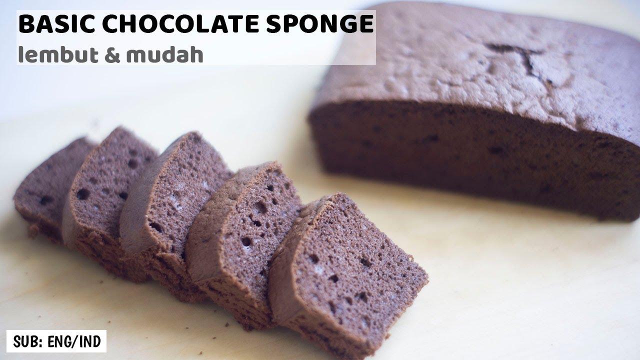 QUICK AND EASY CHOCOLATE SPONGE CAKE RECIPE | BOLU COKLAT LEMBUT