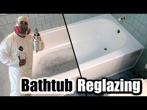 How To Reglaze And Transform And Old Bathtub | Bathtub Reglazing And Refinishing | DP Tubs