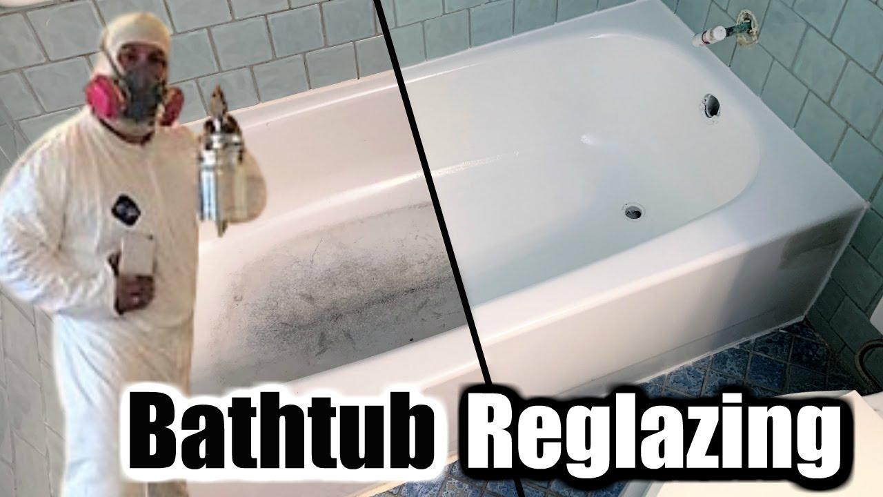 reglazing a fiberglass shower pan to