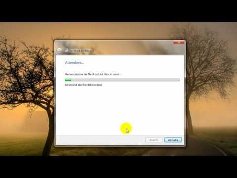 Masterizzare CD/DVD con Windows 7