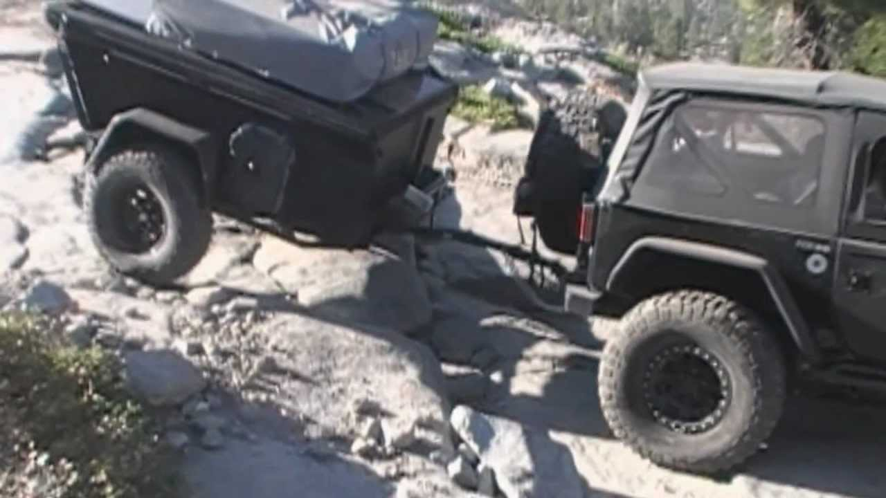 Off Road Trailer On Rubicon Trail With Jeep Jk 2012 Youtube