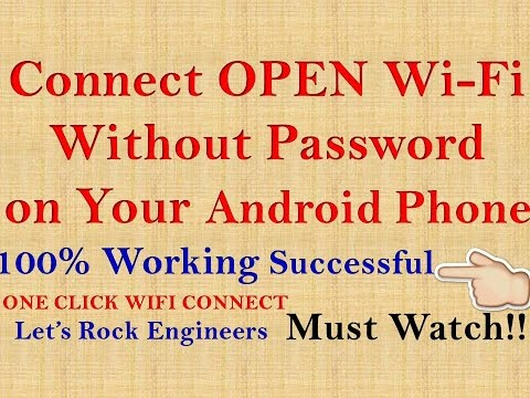 How to Connect WiFi Without Password 100% Working Without Root!!