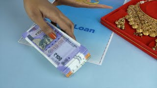 Closeup shot of a blank Gold loan application form - pawnshop concept in India. Money Lender