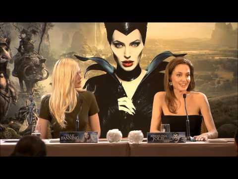 Maléfique - Conférence de presse avec Angelina Jolie et Elle Fanning